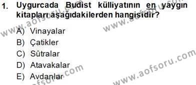 VIII-XIII. Yüzyıllar Türk Edebiyatı Dersi 2014 - 2015 Yılı (Vize) Ara Sınav Soruları 1. Soru