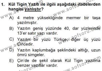 VIII-XIII. Yüzyıllar Türk Edebiyatı Dersi 2015 - 2016 Yılı (Vize) Ara Sınav Soruları 1. Soru