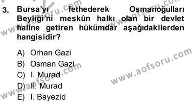 XIV-XV. Yüzyıllar Türk Edebiyatı Dersi 2013 - 2014 Yılı Ara Sınavı 3. Soru