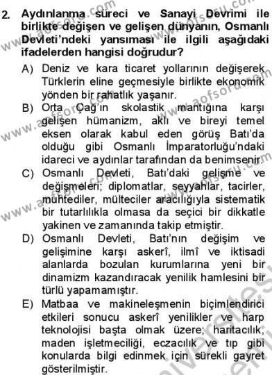 Türk Dili ve Edebiyatı Bölümü 3. Yarıyıl Tanzimat Dönemi Türk Edebiyatı I Dersi 2013 Yılı Güz Dönemi Dönem Sonu Sınavı 2. Soru