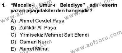 Türk Dili ve Edebiyatı Bölümü 3. Yarıyıl Tanzimat Dönemi Türk Edebiyatı I Dersi 2014 Yılı Güz Dönemi Ara Sınavı 1. Soru