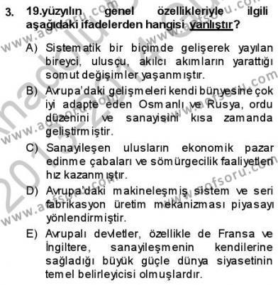 Türk Dili ve Edebiyatı Bölümü 3. Yarıyıl Tanzimat Dönemi Türk Edebiyatı I Dersi 2014 Yılı Güz Dönemi Ara Sınavı 3. Soru