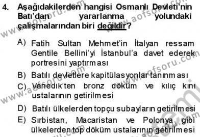 Türk Dili ve Edebiyatı Bölümü 3. Yarıyıl Tanzimat Dönemi Türk Edebiyatı I Dersi 2014 Yılı Güz Dönemi Ara Sınavı 4. Soru
