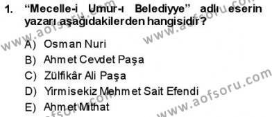 Tanzimat Dönemi Türk Edebiyatı 1 Dersi 2013 - 2014 Yılı Dönem Sonu Sınavı 1. Soru