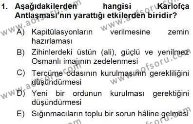 Türk Dili ve Edebiyatı Bölümü 3. Yarıyıl Tanzimat Dönemi Türk Edebiyatı I Dersi 2016 Yılı Güz Dönemi Ara Sınavı 1. Soru