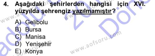 Türk Dili ve Edebiyatı Bölümü 5. Yarıyıl XVI. Yüzyıl Türk Edebiyatı Dersi 2013 Yılı Güz Dönemi Dönem Sonu Sınavı 4. Soru