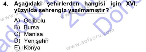 XVI. Yüzyıl Türk Edebiyatı Dersi 2012 - 2013 Yılı Dönem Sonu Sınavı 4. Soru