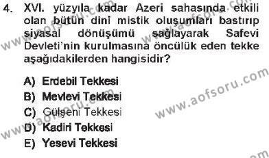 XVI. Yüzyıl Türk Edebiyatı Dersi 2012 - 2013 Yılı Tek Ders Sınav Soruları 4. Soru