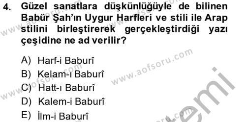 XVI. Yüzyıl Türk Edebiyatı Dersi 2014 - 2015 Yılı (Final) Dönem Sonu Sınav Soruları 4. Soru