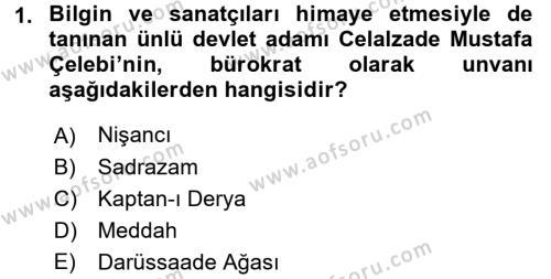 XVI. Yüzyıl Türk Edebiyatı Dersi 2017 - 2018 Yılı (Final) Dönem Sonu Sınav Soruları 1. Soru