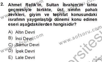 XVII. Yüzyıl Türk Edebiyatı Dersi 2013 - 2014 Yılı Dönem Sonu Sınavı 2. Soru