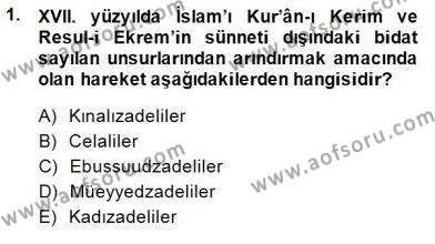 XVII. Yüzyıl Türk Edebiyatı Dersi 2014 - 2015 Yılı Dönem Sonu Sınavı 1. Soru