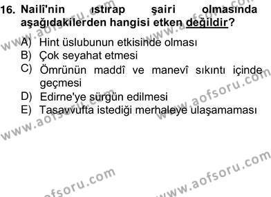 Türk Edebiyatının Mitolojik Kaynakları Dersi 2012 - 2013 Yılı Ara Sınavı 1. Soru