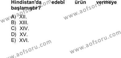 Türk Edebiyatının Mitolojik Kaynakları Dersi 2012 - 2013 Yılı Ara Sınavı 2. Soru