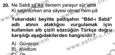 Türk Dili ve Edebiyatı Bölümü 6. Yarıyıl Türk Edebiyatının Mitolojik Kaynakları Dersi 2013 Yılı Bahar Dönemi Ara Sınavı 5. Soru