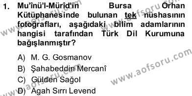 Türk Edebiyatının Mitolojik Kaynakları Dersi 2013 - 2014 Yılı (Vize) Ara Sınav Soruları 1. Soru