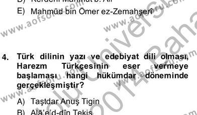 Türk Edebiyatının Mitolojik Kaynakları Dersi 2013 - 2014 Yılı (Vize) Ara Sınav Soruları 3. Soru