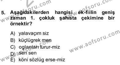 Türk Edebiyatının Mitolojik Kaynakları Dersi 2013 - 2014 Yılı (Vize) Ara Sınav Soruları 4. Soru