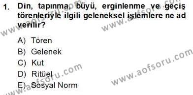 Türk Edebiyatının Mitolojik Kaynakları Dersi 2014 - 2015 Yılı Ara Sınavı 1. Soru