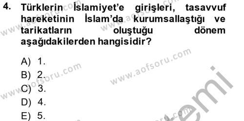 Türk Halk Şiiri Dersi 2014 - 2015 Yılı (Final) Dönem Sonu Sınav Soruları 4. Soru