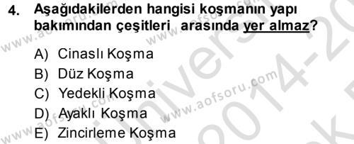 Türk Halk Şiiri Dersi 2014 - 2015 Yılı Tek Ders Sınav Soruları 4. Soru