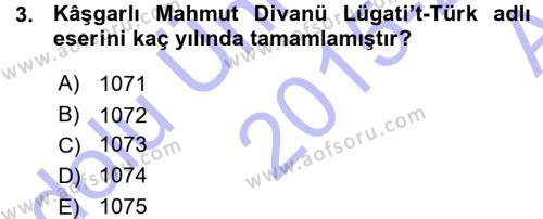Türk Halk Şiiri Dersi 2015 - 2016 Yılı (Vize) Ara Sınav Soruları 3. Soru