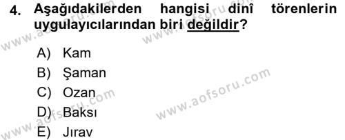 Türk Halk Şiiri Dersi 2015 - 2016 Yılı (Vize) Ara Sınav Soruları 4. Soru
