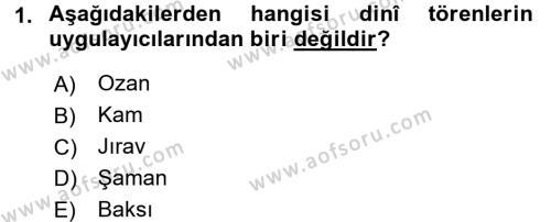 Türk Halk Şiiri Dersi 2016 - 2017 Yılı (Final) Dönem Sonu Sınav Soruları 1. Soru