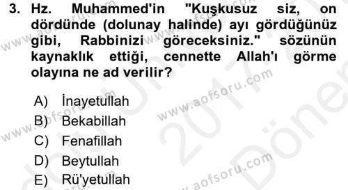 XVIII. Yüzyıl Türk Edebiyatı Dersi 2017 - 2018 Yılı (Final) Dönem Sonu Sınav Soruları 3. Soru
