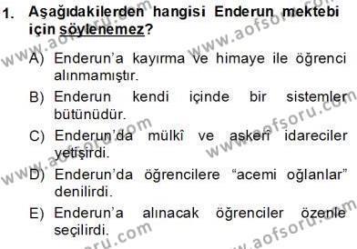 XIX. Yüzyıl Türk Edebiyatı Dersi 2013 - 2014 Yılı (Final) Dönem Sonu Sınav Soruları 1. Soru