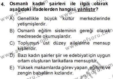 XIX. Yüzyıl Türk Edebiyatı Dersi 2013 - 2014 Yılı (Final) Dönem Sonu Sınav Soruları 4. Soru