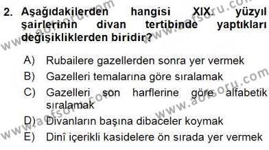 XIX. Yüzyıl Türk Edebiyatı Dersi 2015 - 2016 Yılı (Vize) Ara Sınav Soruları 2. Soru