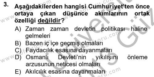 Cumhuriyet Dönemi Türk Şiiri Dersi 2012 - 2013 Yılı (Vize) Ara Sınav Soruları 3. Soru