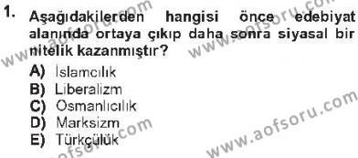 Cumhuriyet Dönemi Türk Şiiri Dersi 2012 - 2013 Yılı Tek Ders Sınav Soruları 1. Soru
