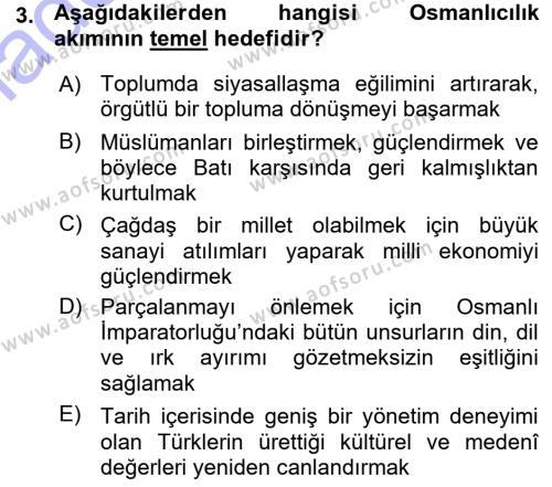 Cumhuriyet Dönemi Türk Şiiri Dersi 2015 - 2016 Yılı Ara Sınavı 3. Soru