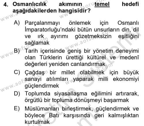 Cumhuriyet Dönemi Türk Şiiri Dersi 2017 - 2018 Yılı (Vize) Ara Sınav Soruları 4. Soru
