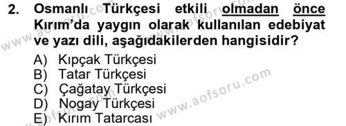 Çağdaş Türk Edebiyatları 1 Dersi 2012 - 2013 Yılı (Vize) Ara Sınav Soruları 2. Soru