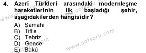 Çağdaş Türk Edebiyatları 1 Dersi 2012 - 2013 Yılı (Vize) Ara Sınav Soruları 4. Soru