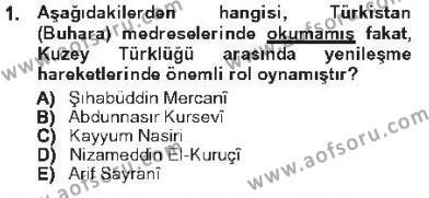 Çağdaş Türk Edebiyatları 1 Dersi 2012 - 2013 Yılı Tek Ders Sınavı 1. Soru