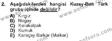 Çağdaş Türk Edebiyatları 1 Dersi 2012 - 2013 Yılı Tek Ders Sınavı 2. Soru