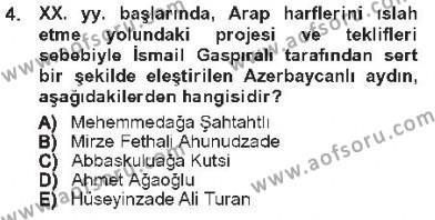 Türk Dili ve Edebiyatı Bölümü 7. Yarıyıl Çağdaş Türk Edebiyatları I Dersi 2013 Yılı Güz Dönemi Tek Ders Sınavı 4. Soru