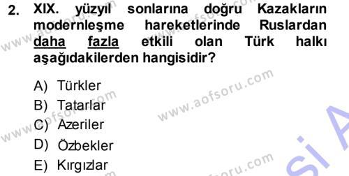 Çağdaş Türk Edebiyatları 1 Dersi 2013 - 2014 Yılı (Final) Dönem Sonu Sınav Soruları 2. Soru