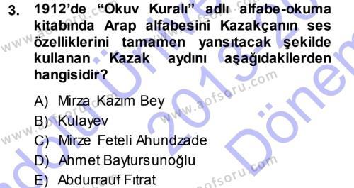 Çağdaş Türk Edebiyatları 1 Dersi 2013 - 2014 Yılı (Final) Dönem Sonu Sınav Soruları 3. Soru
