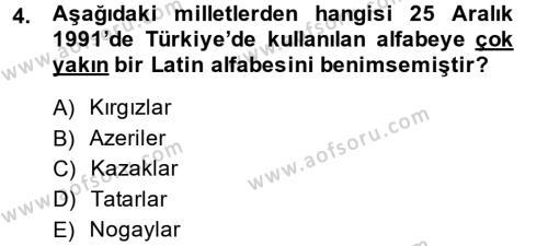Çağdaş Türk Edebiyatları 1 Dersi 2013 - 2014 Yılı (Final) Dönem Sonu Sınav Soruları 4. Soru