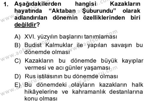 Çağdaş Türk Edebiyatları 1 Dersi 2014 - 2015 Yılı Dönem Sonu Sınavı 1. Soru