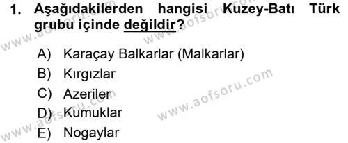 Çağdaş Türk Edebiyatları 1 Dersi 2015 - 2016 Yılı (Vize) Ara Sınav Soruları 1. Soru