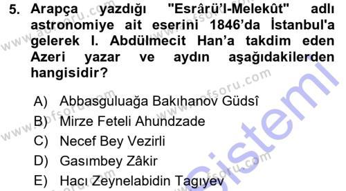Türk Dili ve Edebiyatı Bölümü 7. Yarıyıl Çağdaş Türk Edebiyatları I Dersi 2016 Yılı Güz Dönemi Dönem Sonu Sınavı 5. Soru