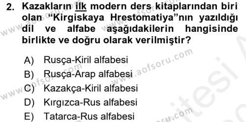 Çağdaş Türk Edebiyatları 1 Dersi 2015 - 2016 Yılı Tek Ders Sınav Soruları 2. Soru