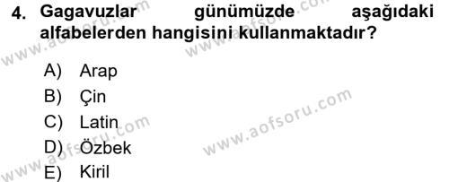 Çağdaş Türk Edebiyatları 1 Dersi 2015 - 2016 Yılı Tek Ders Sınav Soruları 4. Soru