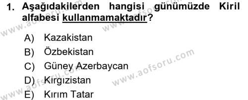Çağdaş Türk Edebiyatları 1 Dersi 2017 - 2018 Yılı (Vize) Ara Sınav Soruları 1. Soru